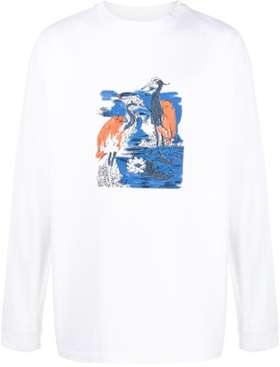 Heron Preston Heron-print crew neck sweatshirt