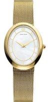 Danish Design Women's 25.32mm Gold-Tone Steel Bracelet & Case Quartz White Dial Analog Watch IV05Q995