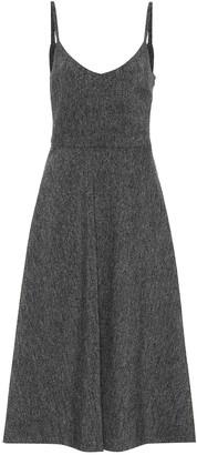 Valentino wool crepe slip dress
