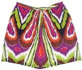 Trina Turk Print Silk ALine Skirt
