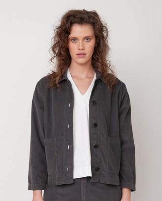Beaumont Organic Sharon Organic Cotton Jacket In Slate - Slate / Extra Small