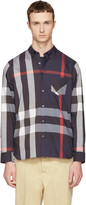 Burberry Navy Check Thornaby Shirt