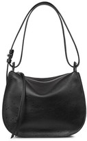 AllSaints Mini Echo Star Embossed Calfskin Shoulder Bag - Black