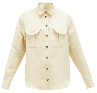 BLAZÉ MILANO Savannah Berber Linen-blend Shirt - Cream