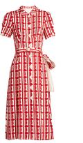 Miu Miu Large polka-dot print crepe shirtdress