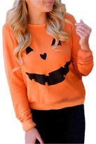 Halloween Women Sweatshirt, Malltop Pumpkin Print O-Neck Long Sleeve Pullover