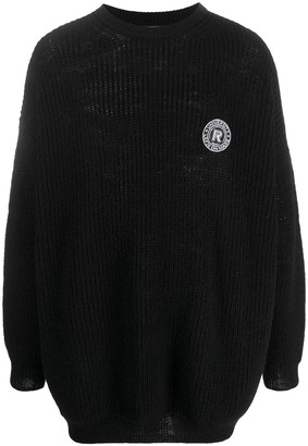 Raf Simons Knitted Logo Patch Jumper