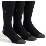 Polo Ralph Lauren Ribbed Socks (3-Pack)