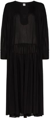 Totême Semi-Sheer Drop-Waist Dress