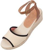 Soludos Women's Natural Linen Wedge Sandal 8122714