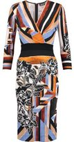 Just Cavalli Printed Cady Dress