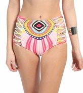 Mara Hoffman Rays Lattice High Waisted Bikini Bottom 8112734