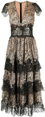 Costarellos Daralisa tiger-print chiffon dress