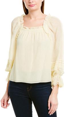 Rebecca Taylor Lurex Silk-Blend Top