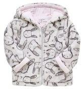F&F Bunny Print Fleece Jacket, Newborn Girl's