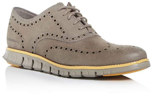 Cole Haan Men's Zerogrand Nubuck Leather Wingtip Oxfords