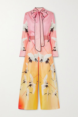 F.R.S For Restless Sleepers Nettuno Printed Degrade Silk Jumpsuit - Pastel pink