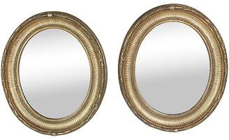 One Kings Lane Vintage Napoleon III Gilt Framed Mirrors - Set of 2 - Schorr & Dobinsky - multi