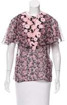 Giambattista Valli Semi-Sheer Silk Top w/ Tags