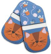 Sur La Table Happy Cat Mini Grip Potholders, Set of 2