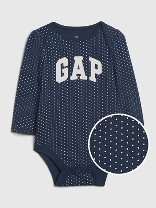 Gap Baby Logo Long Sleeve Bodysuit