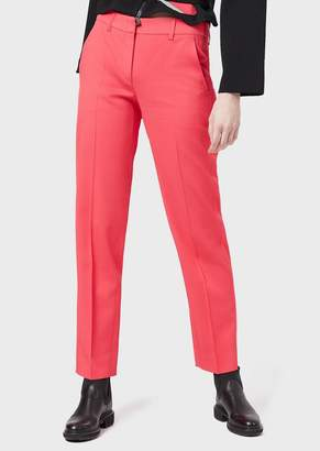 Emporio Armani Stretch Gabardine Trousers With Loops