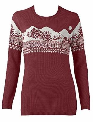 British Christmas Jumpers Women's Wonderland Eco Christmas Jumper Pullover Sweater