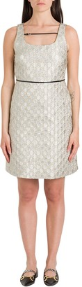 Gucci Short Dress In Heritage Gg Lame