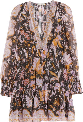 Ulla Johnson Rosetta Long Sleeve Silk Blend Minidress