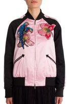 Valentino Embroidered Silk Varsity Jacket