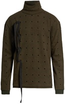 Damir Doma Womak decorative-ribbon roll-neck cotton sweater