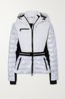 Erin Snow Kat Hooded Belted Quilted Ski Jacket - Cream