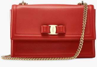 Salvatore Ferragamo Medium Vara Shoulder Bag