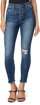 Liverpool Los Angeles Abby Button Fly High Waist Ankle Skinny Jeans