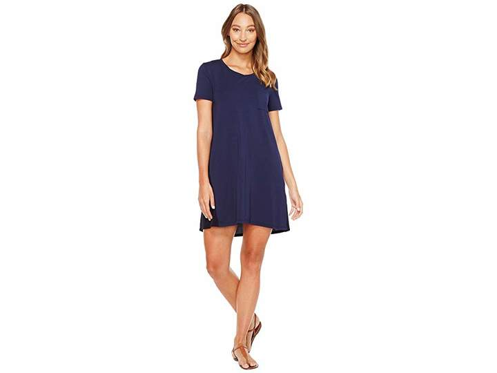Mod-o-doc Cotton Modal Spandex Jersey T-Shirt Dress with Back Contrast Women's Dress