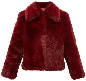 Sies Marjan Felice Faux Fur Jacket - Womens - Burgundy
