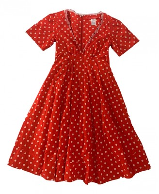 Christian Lacroix Red Cotton Dress for Women Vintage