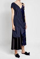 Diane von Furstenberg Silk Dress with Sequin Embellishment