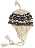 Muk Luks Women's Fair Isle Cable Tassel Helmet