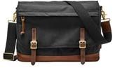 Fossil Men's Canvas Messenger Bag - Black