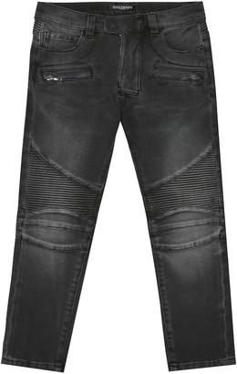 Balmain Kids Stretch denim jeans