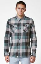Vans Box Charcoal Plaid Flannel Long Sleeve Button Up Shirt