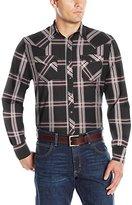 Wrangler Men's Long Sleeve Western Fashion Snap Shirt