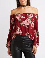 Charlotte Russe Floral Off-The-Shoulder Top