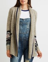 Charlotte Russe Patterned Shawl Collar Cardigan
