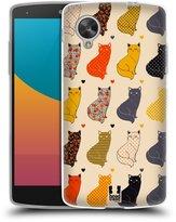 Head Case Designs Printed Cats Soft Gel Back Case Cover for LG Google Nexus 5 D820 D821