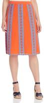 Tory Burch Trista Crochet Trim Skirt