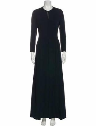 Akris Silk Long Dress Blue