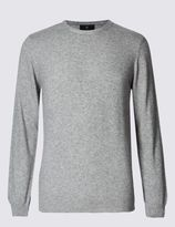 Marks and Spencer Crew Neck Jumper with Cashmere