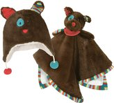 Stephan Baby Ultra-Soft Cuddle Bud Security Blanket and Matching Fuzzy Hat Gift Set